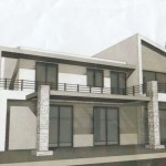 109m² semi-detached house with a building permission at Giannitsanika