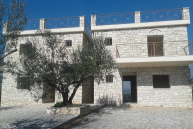 Twin natural newly built stone houses on a plot of 4200m²